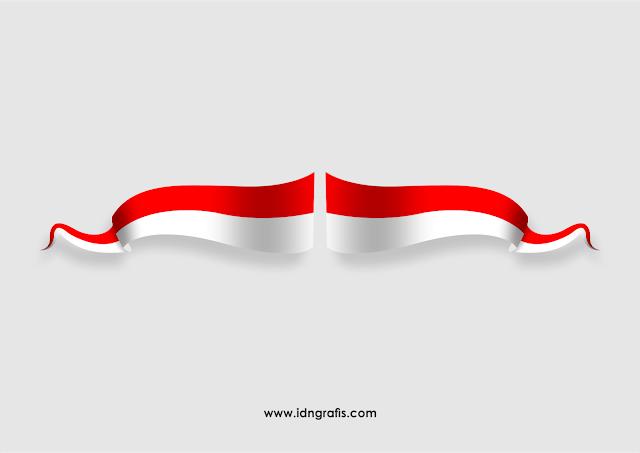 Pita Bendera Merah Putih Cdr Di 2020 Bendera Desain Banner Desain