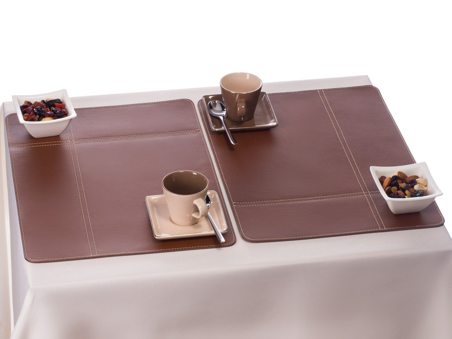 Leather Table Mats, Brown Placemats Table Setting Place Mat Sets Dining  Tableu2026