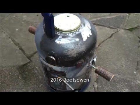 DIY Gas Cylinder BBQ Smoker - YouTube YouTube Pinterest - feuertonne selber machen
