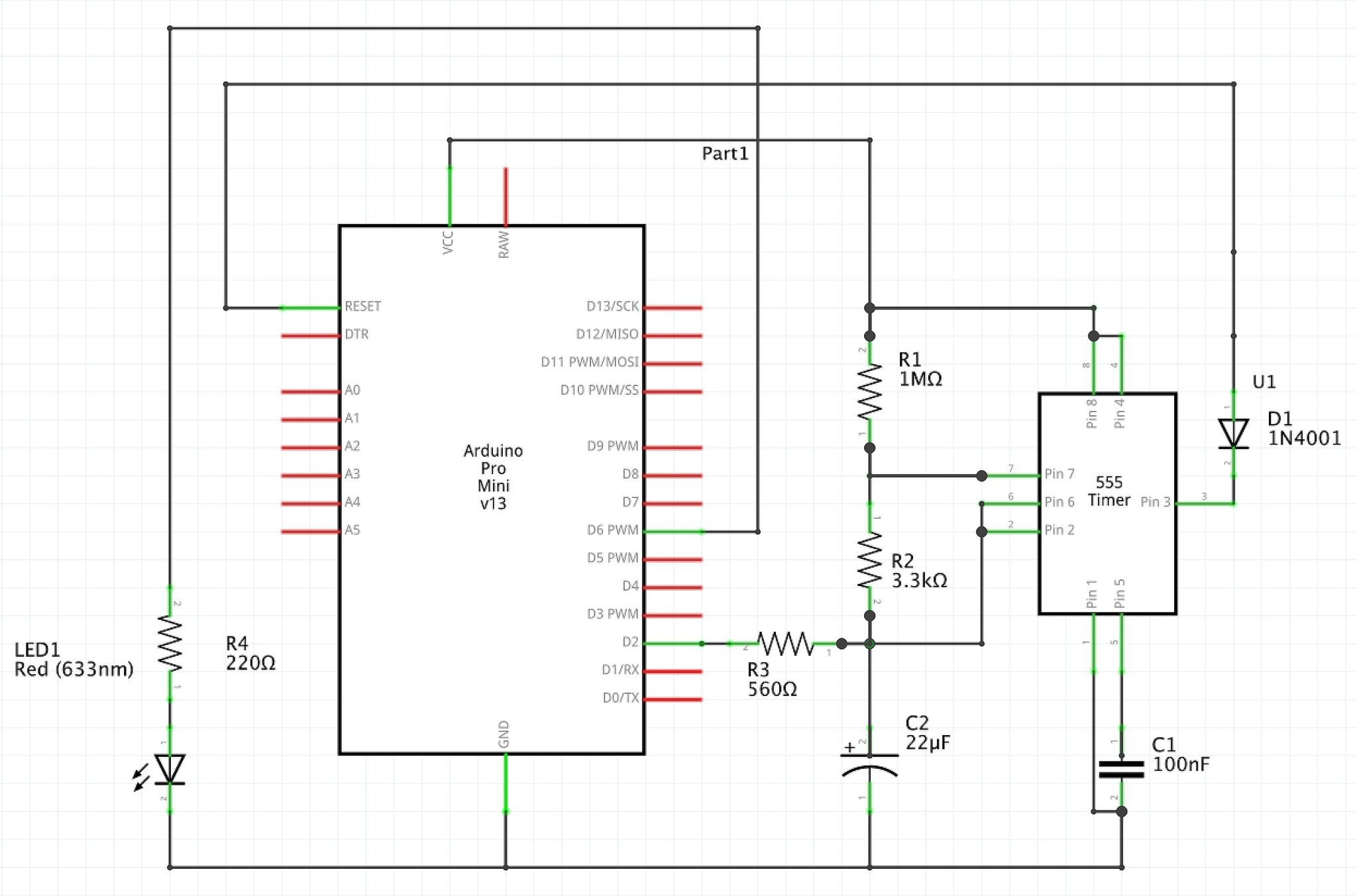 Arduino 555 Watchdog Timer Circuit Diagram Electrical Engineering Active Microphone Preamplifier Using Lf356