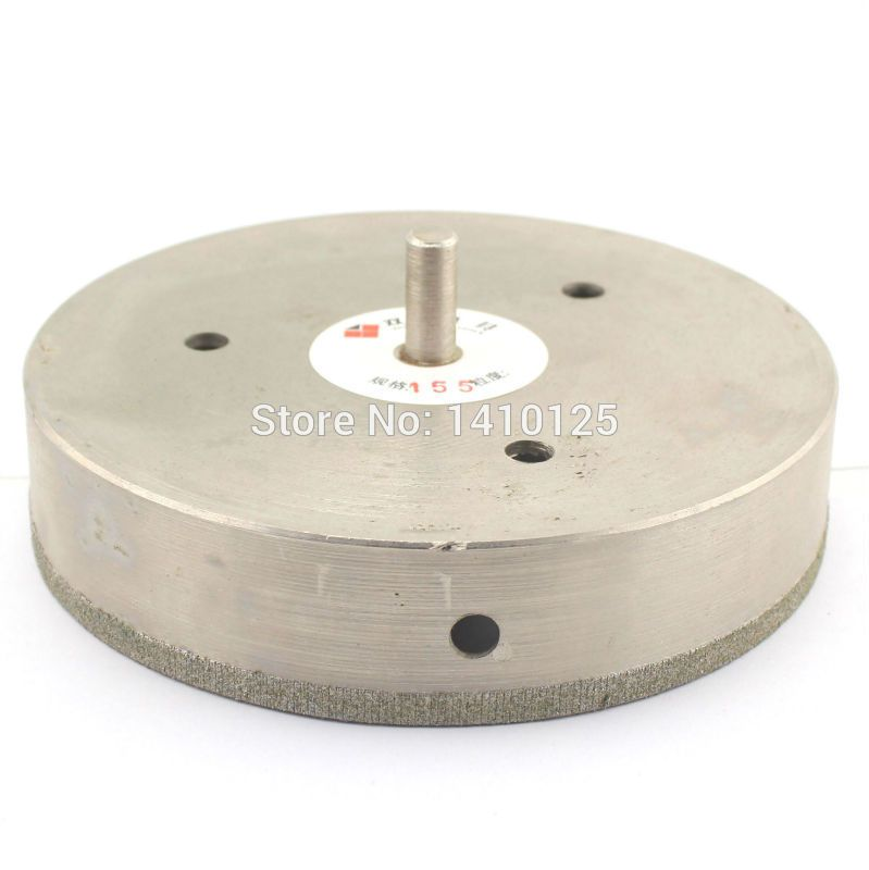 155 Mm 6 1 8 Inch Diamond Core Drill Bit Hole Saw Cutter Coated Masonry Drilling For Glass Tile Ceramic Stone Marb Drilling Glass Glass Ceramic Marble Granite