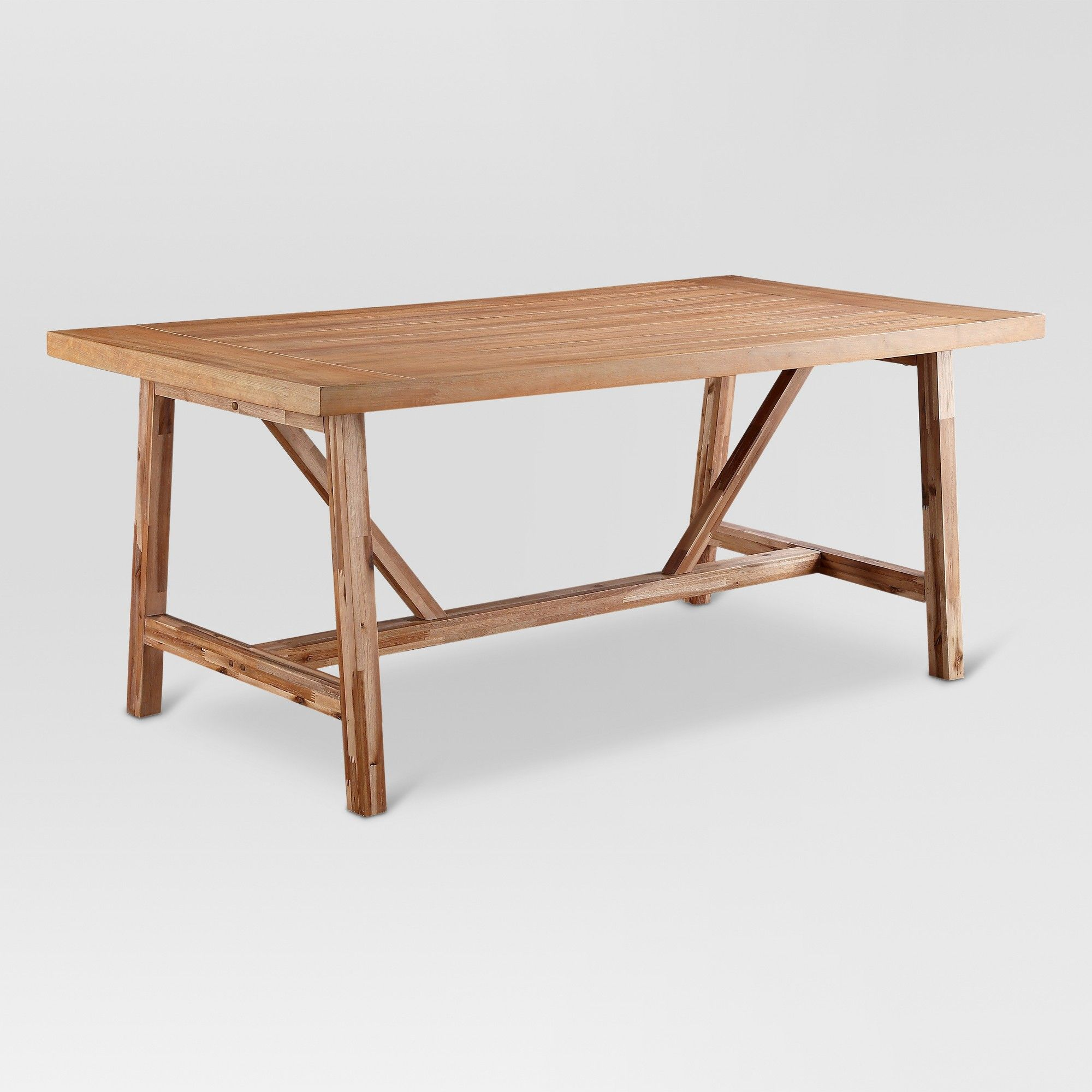 Peachy Wheaton Farmhouse Trestle 60 Dining Table Threshold Brown Alphanode Cool Chair Designs And Ideas Alphanodeonline