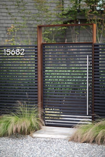 Erstaunliche einzigartige Ideen: Block Zaun Design Zaun Pflanzgefäße Bambus. D...