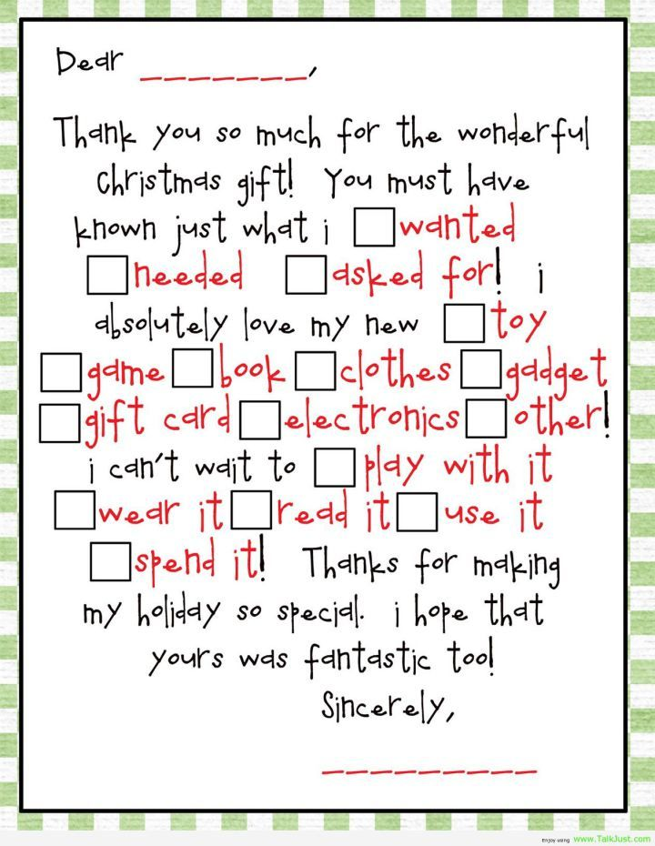 Funny Thank You For The Gift Quotes Google Search Thank You Cards From Kids Thank You Card Wording Teacher Thank You Letter