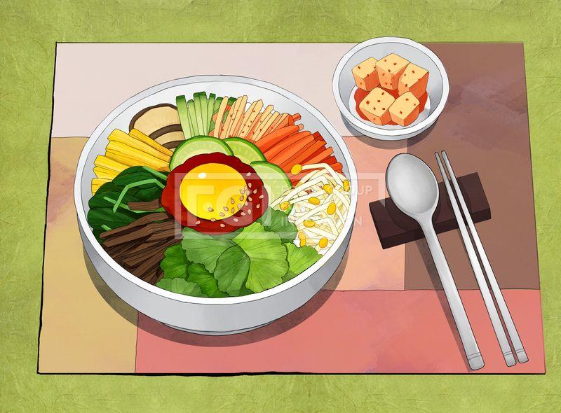 PAI145, 프리진, 일러스트, 한국, 한식, 음식, 식사, 음식물, 요리 ...