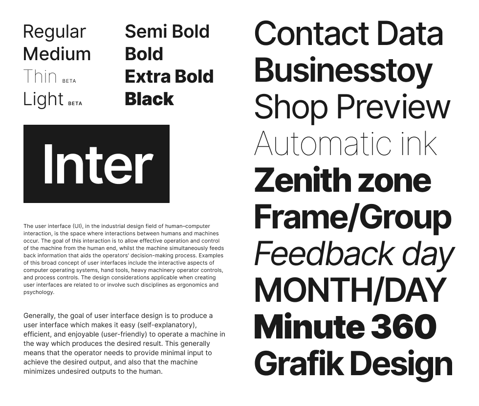 Freeebie Inter Font Family Minimalist Web Design User Interface Typeface