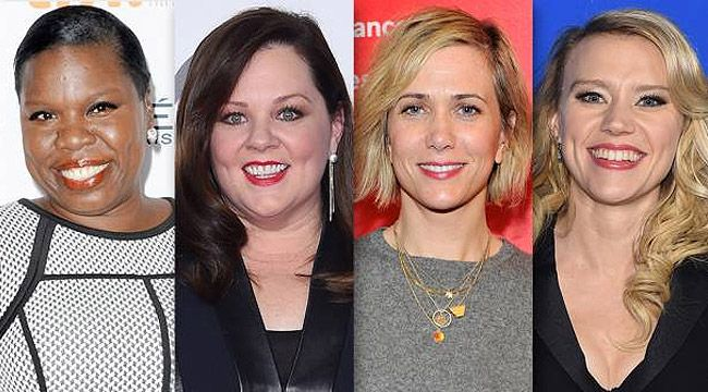 Svelato il cast femminile del reboot Ghostbusters: il tweet del regista Paul Feigper Melissa McCarthy, Kristen Wiig, Kate McKinnon & Leslie Jones Might