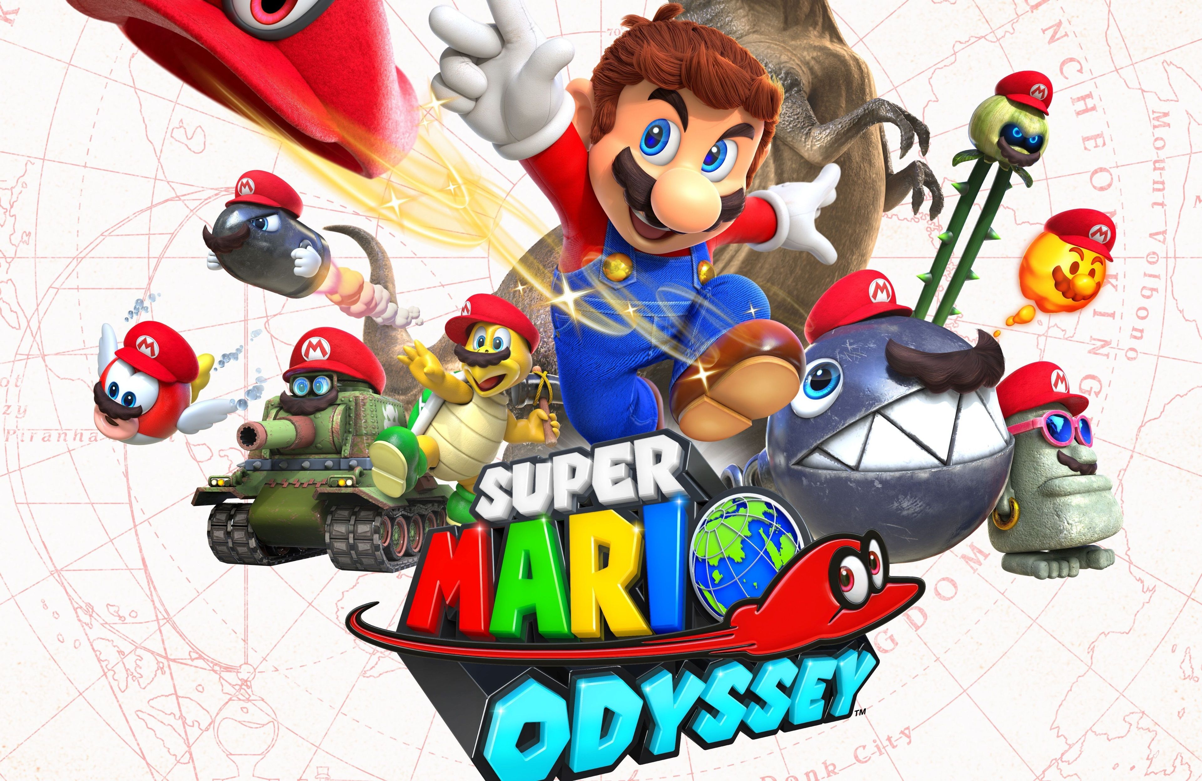 3840x2496 Super Mario Odyssey 4k Best Image Super Mario Mario City Super