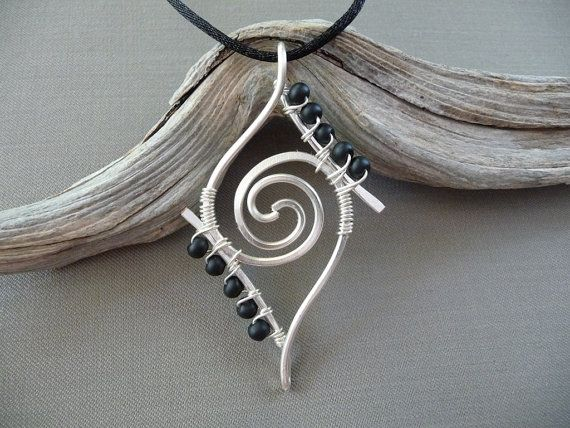 Wire Wrapped Jewelry, Silver Wrap Jewelry Pendant, Wire Jewelry, Wire Wrapped… …