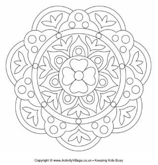 patterns for children to colour could be made into diwali cards - Pictures To Colour In