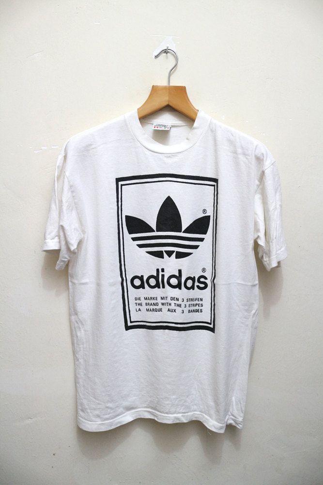 Vintage Adidas Trefoil Big Logo Hip Hop Clothing T-Shirt TmyaA0rAnX