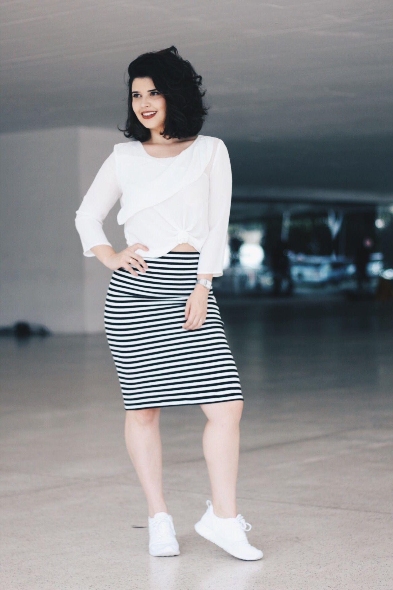 Look Dafiti Clothes Pinterest Fashion Style And Minimal Carter Pleated Shirt White Putih M Saia Lpis Listrada Mais