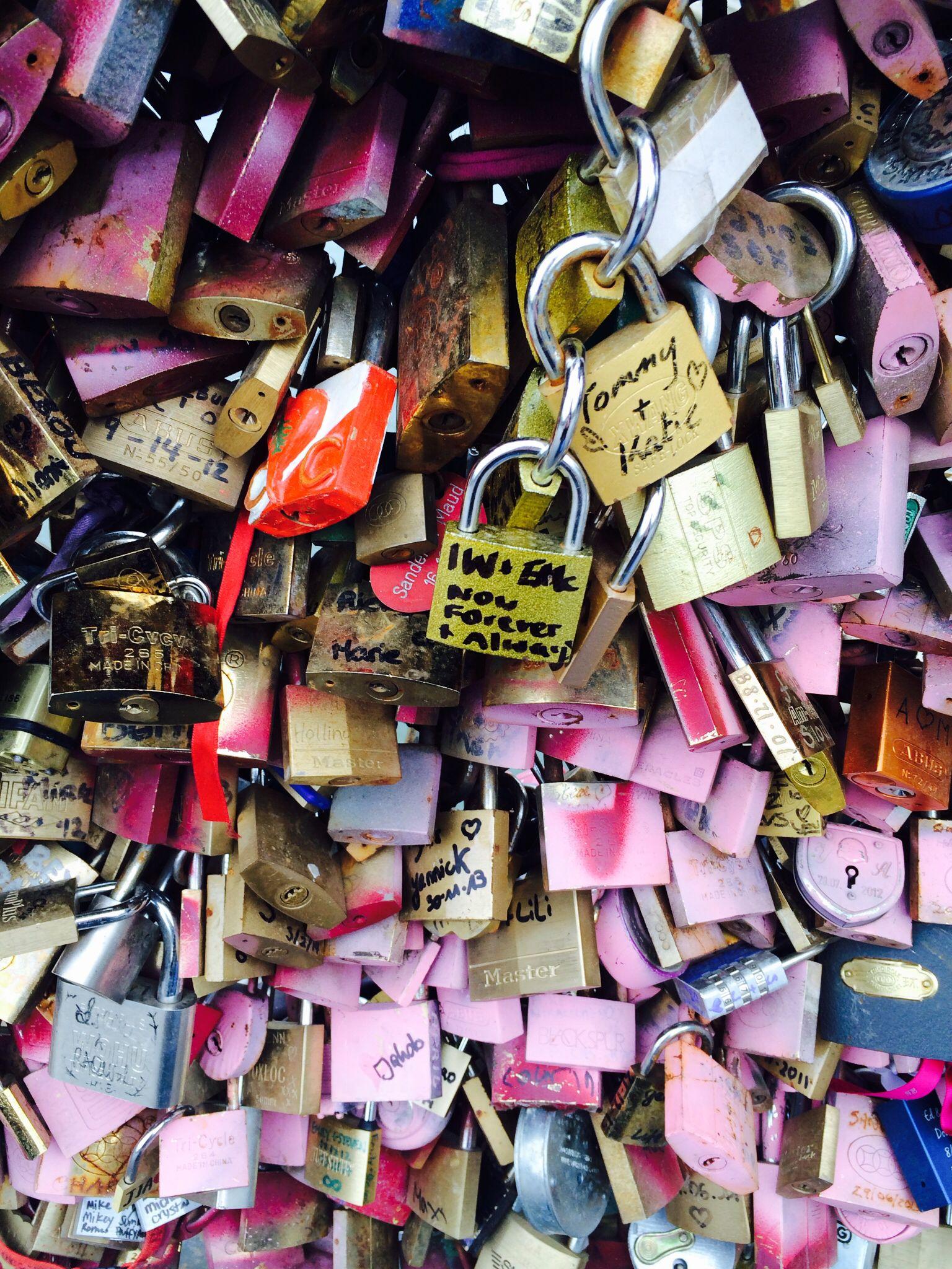 Lovelock Bridge Paris - Ben & I added our lock today x