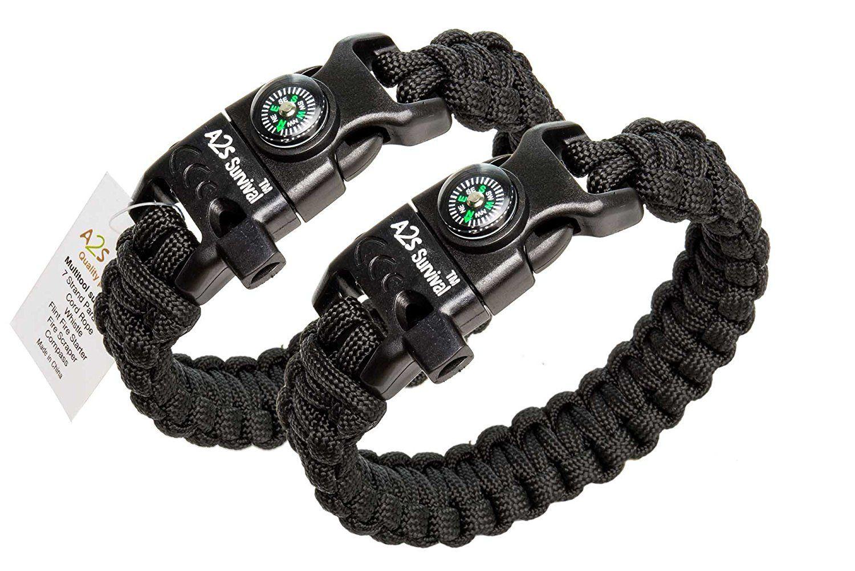 A2s Paracord Bracelet K2 Peak Series Survival Gear Kit With