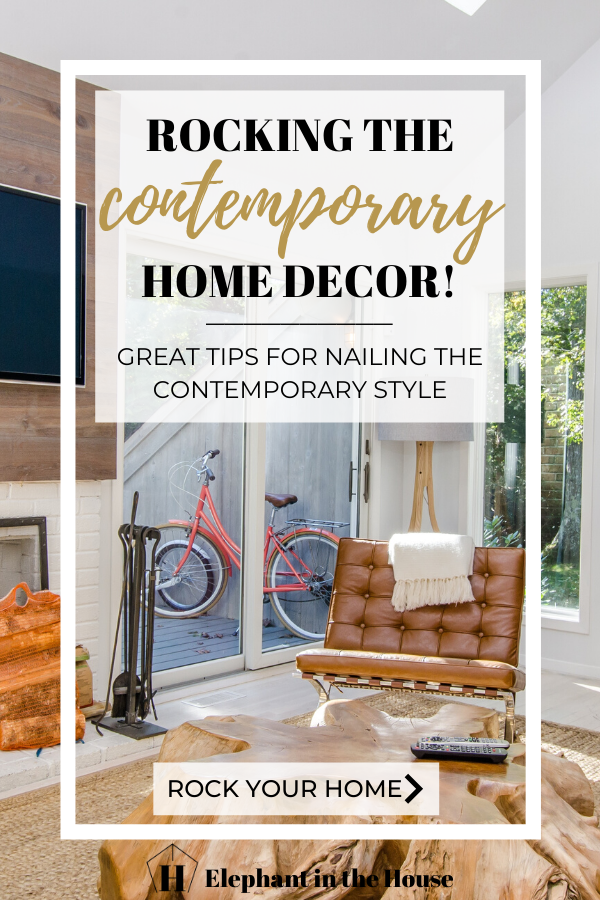 Tired of being confused about contemporary and modern home styles? I've got great tips on how to differentiate both styles and how to achieve a beautiful contemporary home! Come check all the details in the full blog post! #contemporarylivingroom #homedecor #homedecorstyles #interiordesign #interiordesigntips #contemporarydecor #homedecorcontemporary