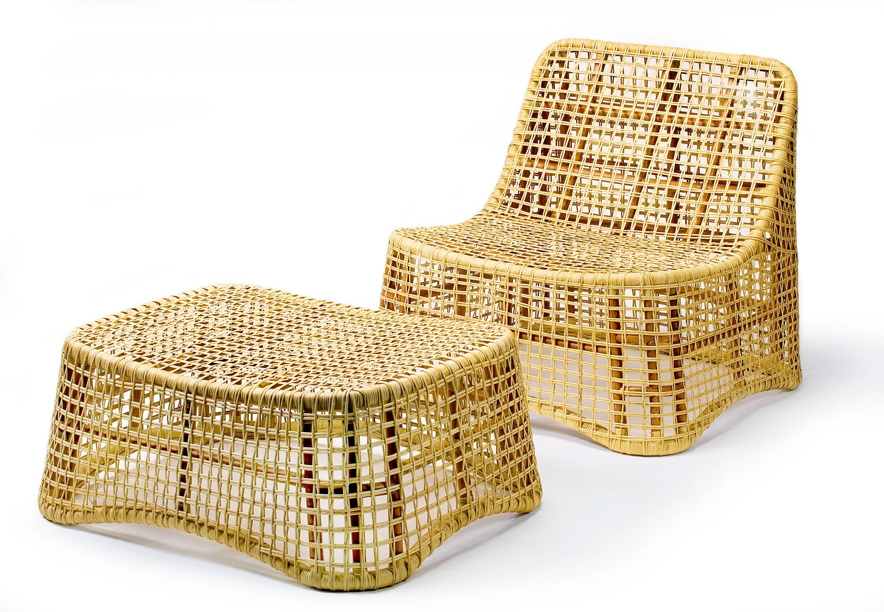 Plaisance Ottoman And Lounge Wicker Chair Wicker Chair