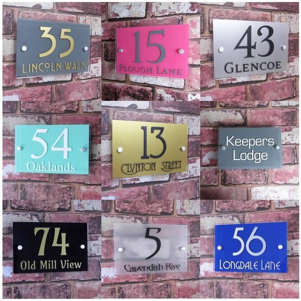 Contemporary House Sign Door Number Address Plaque Modern