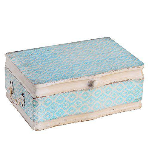 NIKKY HOME Vintage Decorative Wood Case Keepsake Storage Box With Custom Decorative Hinged Boxes