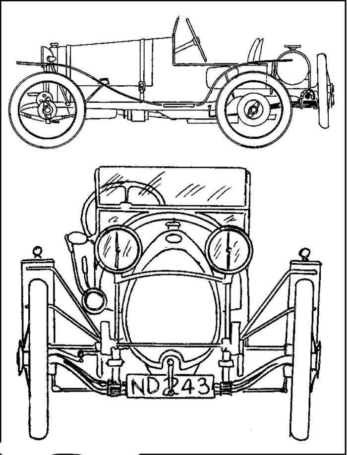 Bugatti Veyron Part Coloring Page
