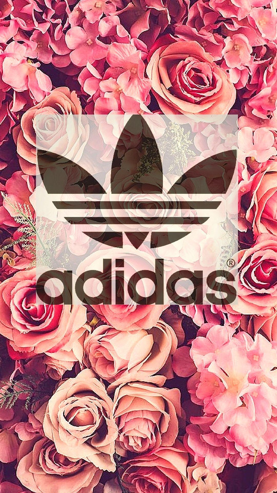 floral Adidas Background JPEG Back back it up