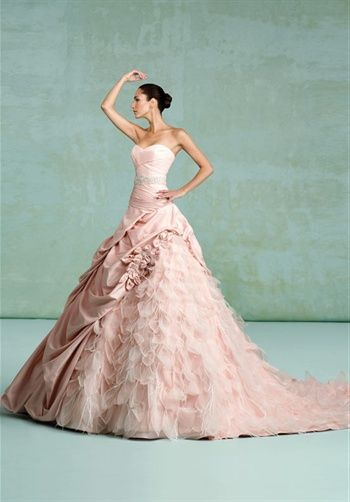 I\'m not a big fan of taffeta or a gown going in too many directions ...