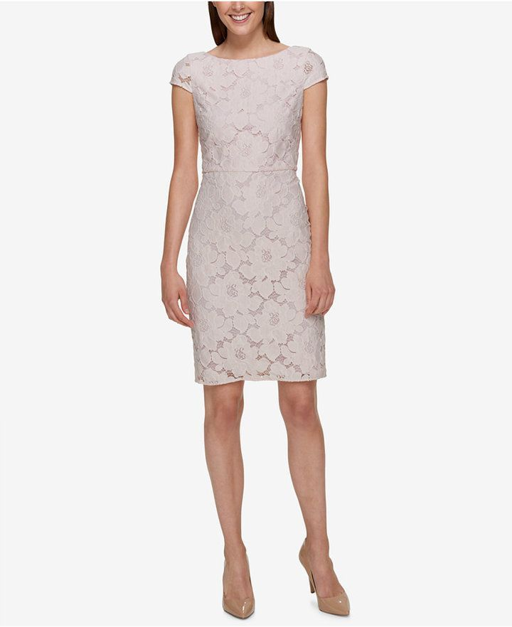 Tommy Hilfiger Cap-Sleeve Lace Dress