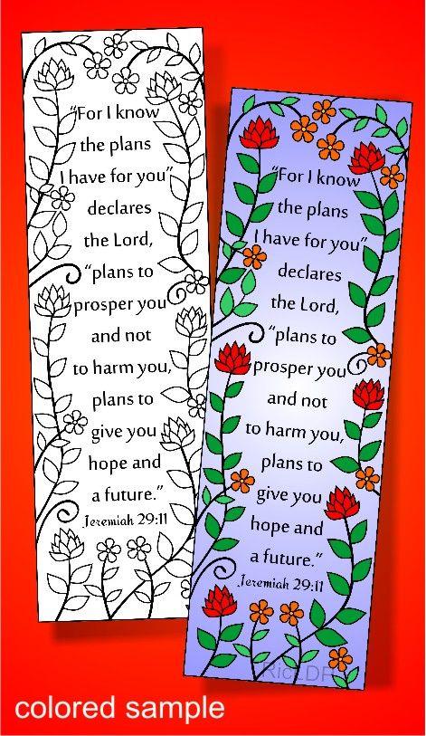 8 Bible Coloring Bookmarks Jeremiah Bookmark