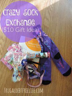 Crazy sock exchange ($10 Gift Idea)   Crazy socks, Socks and ...