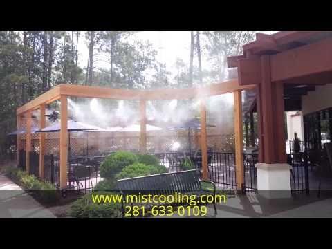 Restaurant High Pressure Misting System Outdoor Cooling System