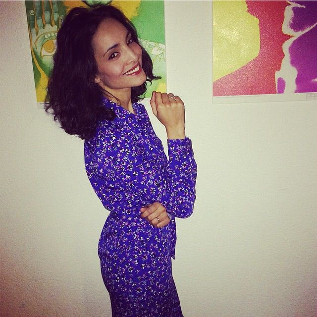 Racha wearing our Dancing Leopard Piece for a dinner party! www.la-racha.com