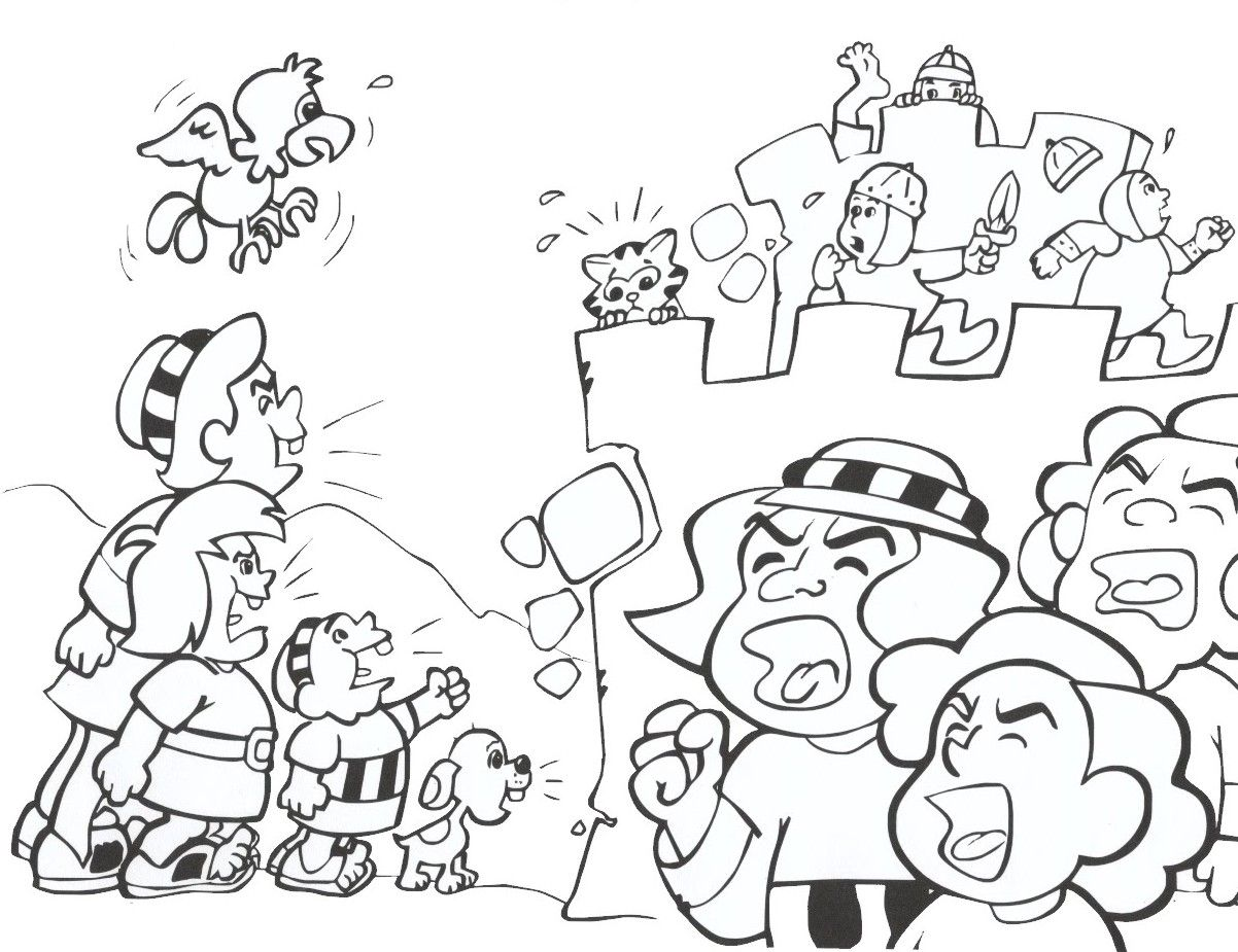 Joshua And Jericho Coloring Pages