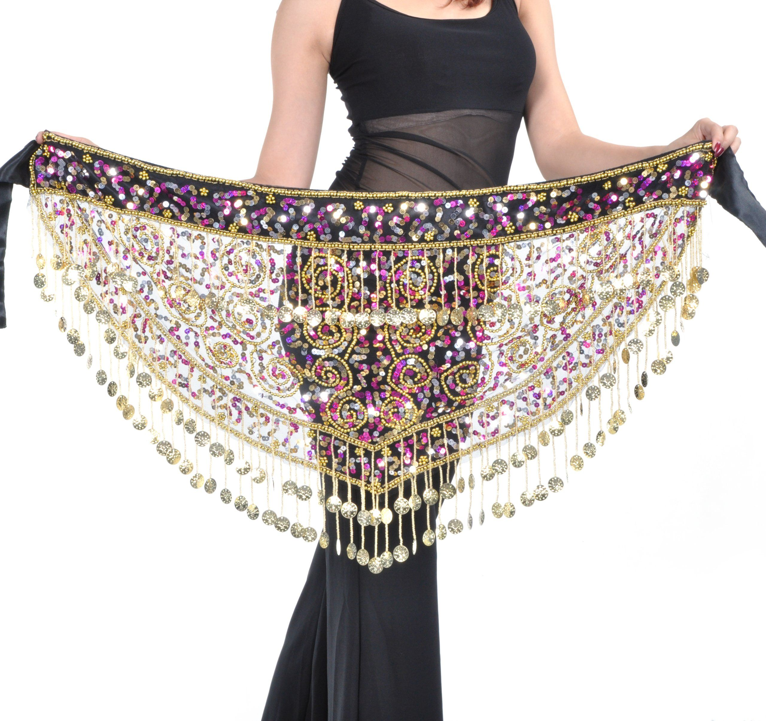 c9a36e968 BellyLady Belly Dance Gold Coins Costume Hip scarf, Tribal Egyptian Coin  Belt