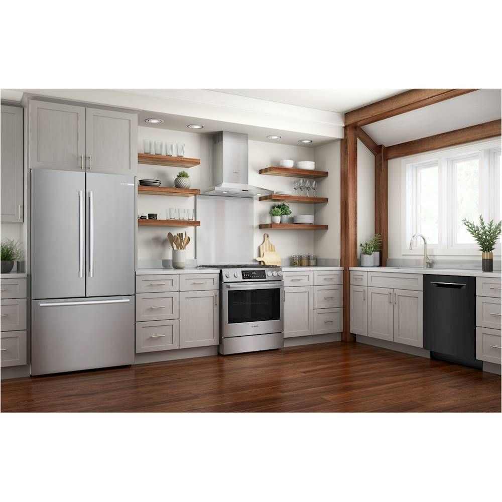 Bosch 800 Series 24 Top Control Built In Dishwasher With Stainless Steel Tub 3rd Rack 42 Dba Black Shpm78z56n Best Buy Built In Dishwasher Steel Tub Modern Kitchen Tiles