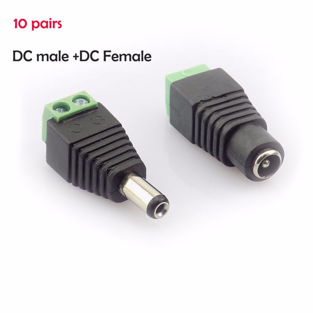 10 Pair 20pcs Coax Cat5 To Bnc Dc Power Male Jack Plug Female Coaxial Wiring Connector Adapter Av Utp For Cctv Camera Video Balun Affiliate