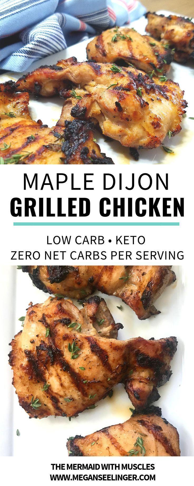 Cuisses de poulet Keto grillées avec marinade de poulet à l'érable et à la dijon à faible teneur en glucides - Recettes de Véronique