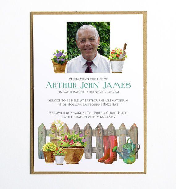 This elegant funeral invitation (or announcement card) would be a - funeral invitation cards