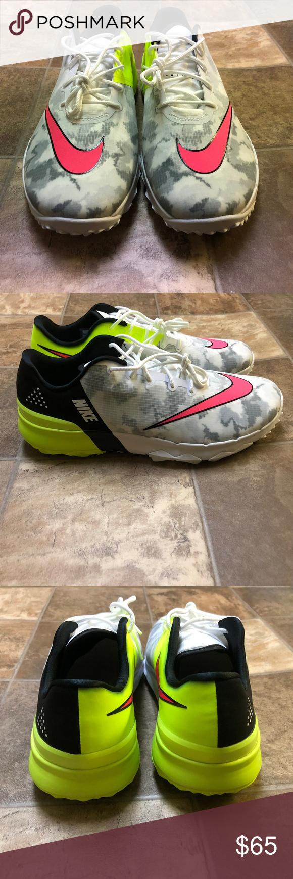 5df060862759 Nike FI Flex Golf Shoes Turf Grip Volt Sz 9 Nike FI Flex Golf Shoes White