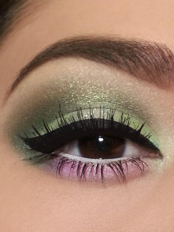 Makeup Green And Pink Eyes Eyeshadow Maquillaje De Ojos Tono Verde