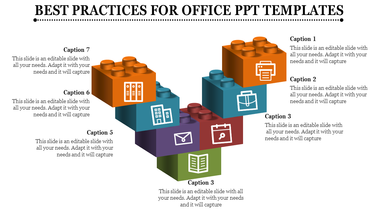 Office Ppt Templates Puzzle Cubes Ppt Template