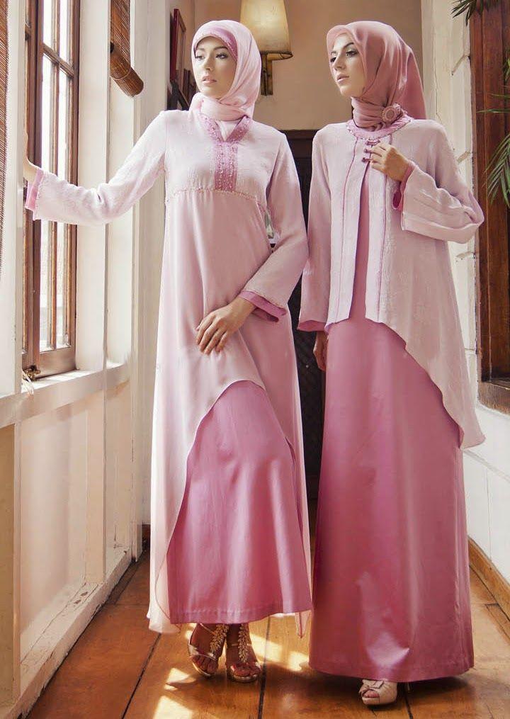 Model Baju Gamis Syar I Bahan Sifon Dress Pinterest Hijab