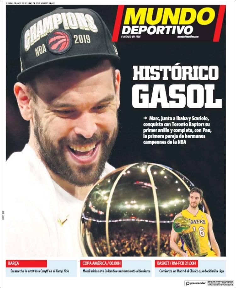20190615 Periódico El Mundo Deportivo (España
