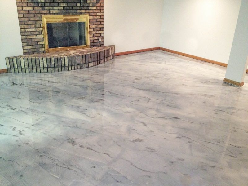 Gray concrete staining rockford il illinois decorative for How to clean cement stains