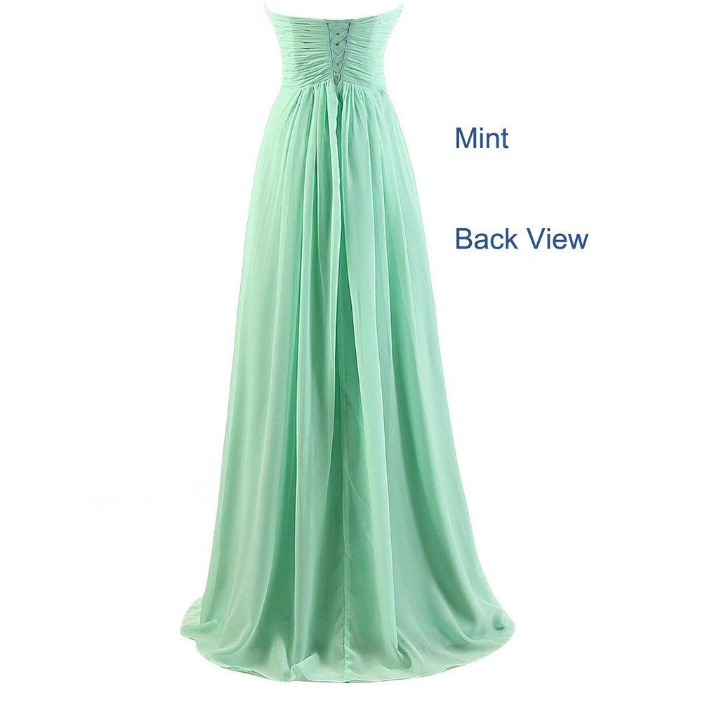 Besswedding sweetheart chiffon prom gowns for juniors long