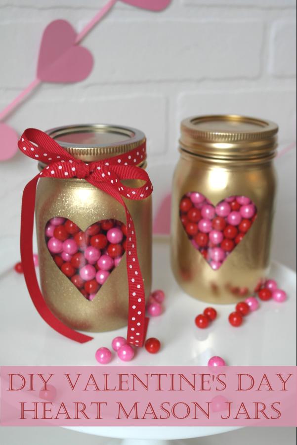 Diy Valentine S Day Mason Jars Diy Valentines Gifts Diy Valentine S Day Decorations Valentine S Day Diy