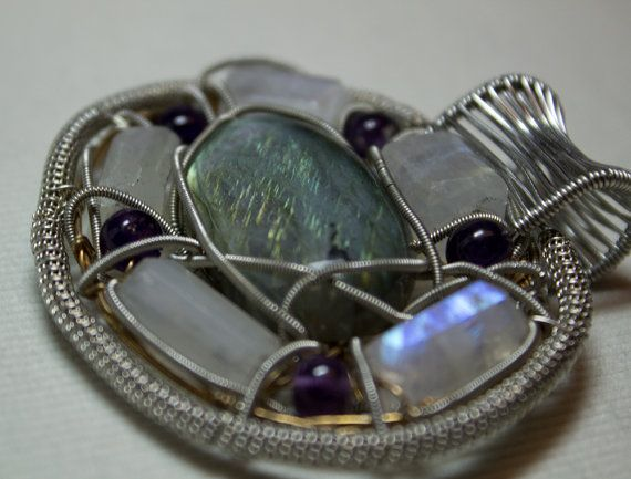 Wire Wrapped Labradorite by LostBoysRagz on Etsy, $95.00