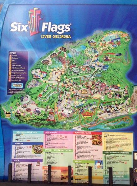 Six Flags Over Georgia Park Map Atlanta Trip 6 5 2015