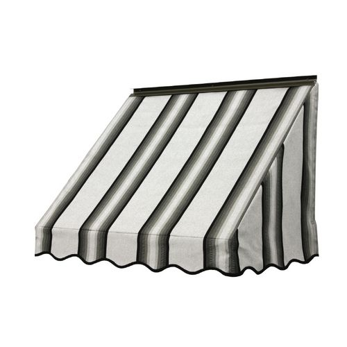Nuimage Awnings 3 Wide X 1 6 Projection Grey Black White Striped