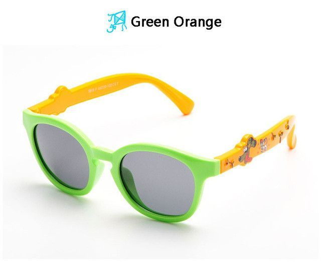 c12cdc2805 Flexible Cute Kids Sunglasses Polarized Child Baby Boy Girls Cartoon Sun  Glasses Infant Eyeglasses Oculos 819