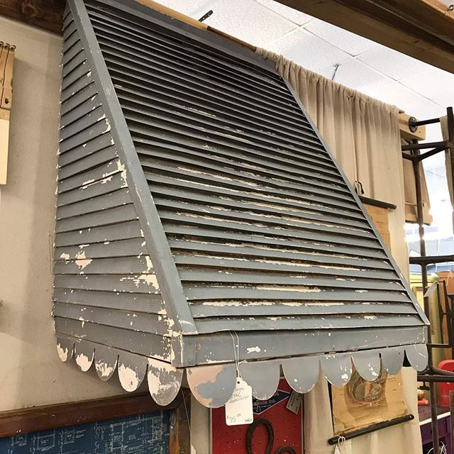 Old Metal Awning Measures 31 inches wide $85 #metalawning ...