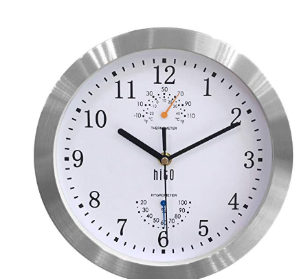 Hito Non Ticking Wall Clock Uses Superior Sweeping Movement To Guarantee True Silence With The Smooth Second Hand Time Accuracy And Wall Clock Clock 10 Things